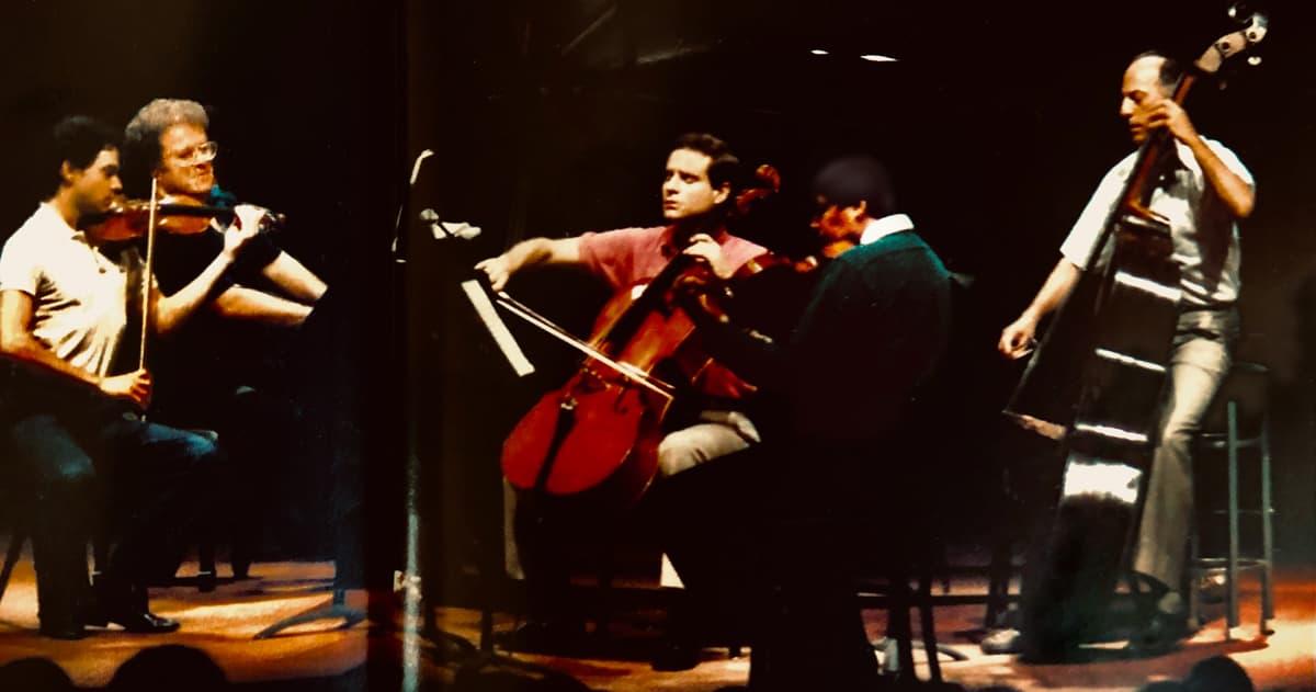 James Kreger with James Levine, piano; Christian Altenburger, violin; Michael Ouzounian, viola; at the Ravinia Festival